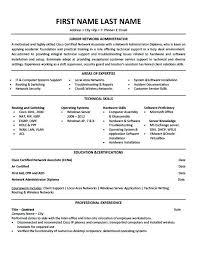Sample Resume Network Administrator Junior Template Premium Samples Example For