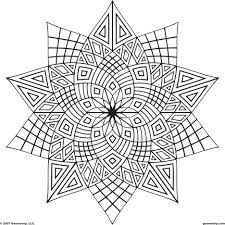 Geometric Design Colouring Sheets Free Online Coloring Pages Pdf Adult Designs Color Shapes Large Size