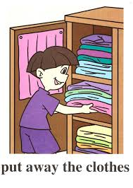 Clipart Put Clothes Away