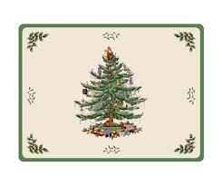 Spode Christmas Tree Mug And Coaster Set by Spode Christmas Tree Set Of 4 Placemats U2013 Jacaranda Tree U0026 Co