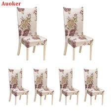 Auoker 6 X Soulfeel Soft Spandex Fit Stretch Short Dining Room Chair Covers  With Printed Pattern, Banquet Chair Seat Protector Slipcover For Home ... Stylish Chair Covers Home Decor Tlc Trading Spaces Discontinued Sewing Pattern Mccalls 0878 Ding Room Wedding Deocrating Uncut Linens Table White Chairs For Target West John Universal Floral Cover Spandex Elastic Fabric For Home Dinner Party Decoration Supplies Aaa Quality Prting Flower Design Stretch Banquet Hotel Computer And 6 Color Diy Faux Fur Cushions A Beautiful Mess Details About 11 Patterns Removable Slipcover Washable With Printed Patternsoft Super Fit Slipcovers Hotelceremonybanquet Vogue 2084 Retro 2001 Sewing Pattern Garden Or Folding One Size Set Of India Rental Where To Polyester Seat Protector 2 Multicolor 20 Creative Ideas With Satin Sash