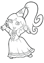 Princess Explorer Coloring Pages Dora Colouring Online Free Sheets And Friends Pdf Full Size
