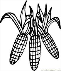 Coloring Pages Corn 4 Holidays Thanksgiving Day