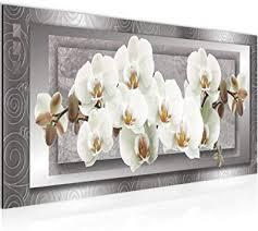 wandbilder blumen orchidee modern vlies leinwand wohnzimmer