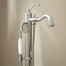 Delta Floor Mount Tub Filler Rough In by Leta Freestanding Tub Faucet With Hand Shower Bathroom
