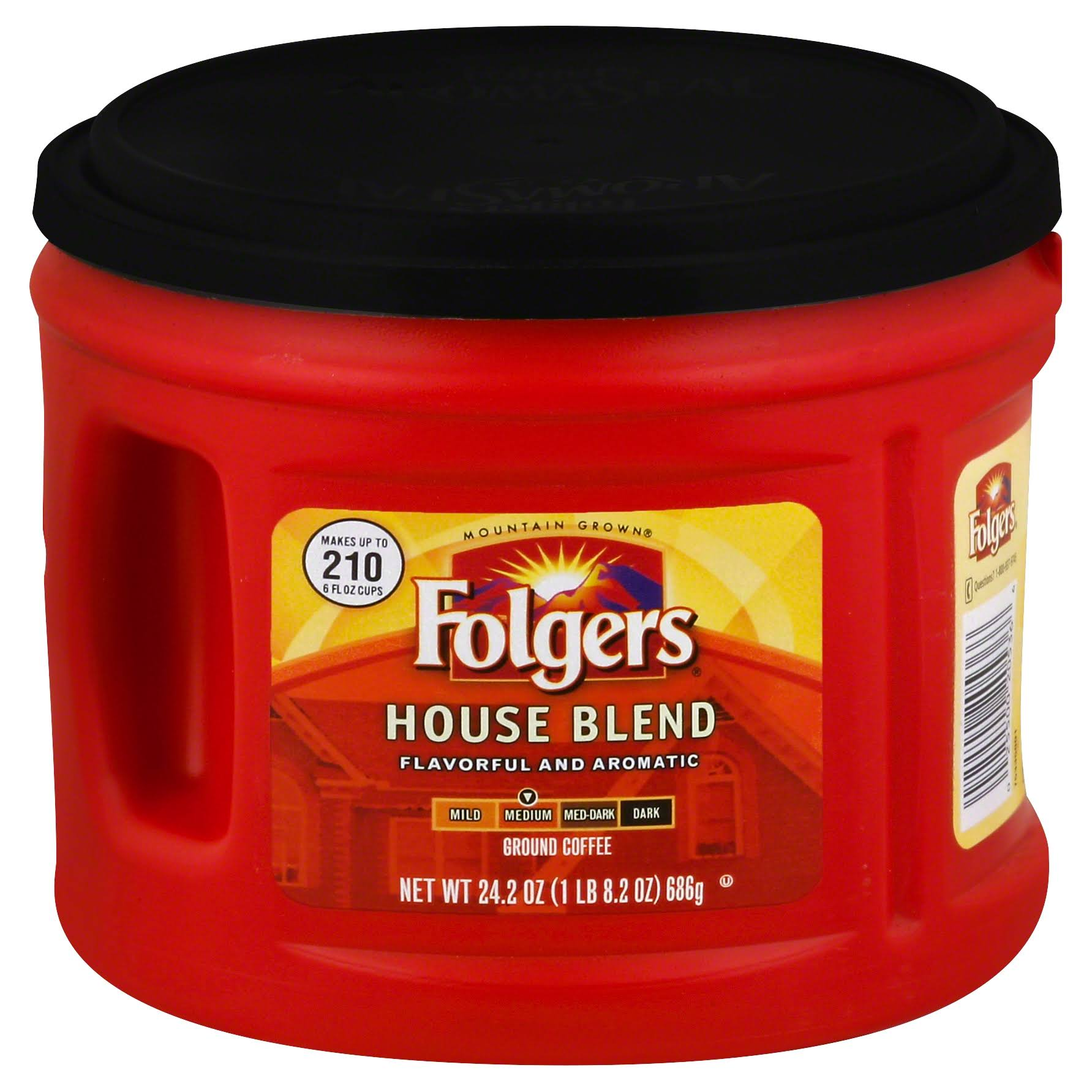 Folgers Medium Ground Coffee - House Blend, 24.2oz