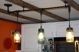 Pleasing Mason Jar Pendant Lights Marvelous Interior Designing Kitchen