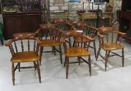 Captains Chairs Dining Room by Antique Captains Chairs For Sale Oak Pedestal Table And 4 Turn Of