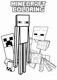 Minecraft Coloring Pages 3 Characters