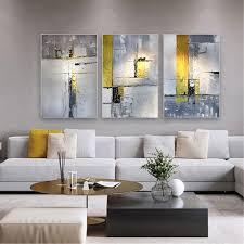 gerahmte grau acryl leinwand 3 stück abstrakte malerei wand kunst bild für wohnzimmer schlafzimmer flur wand dekor original handgemachte textur