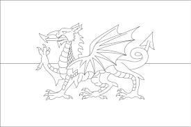 Wales Flag Coloring Sheets