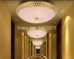 Free Shipping Gold Crystal Pineapple Ceiling Light Flush Mount Indoor Lights For Living Rooms Dining Room