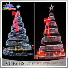 Spiral Lighted Christmas Trees Outdoor by China Giant Outdoor 8m Commercial Led Spiral Christmas Tree Light