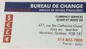 best bureau de change bureau de change opening hours 477 rue sainte catherine o