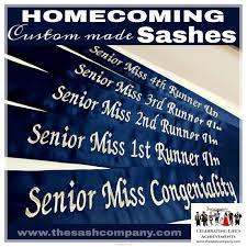 homecoming custom made sashes