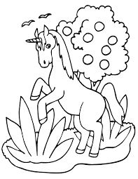 Unicorn Pictures Coloring Kids