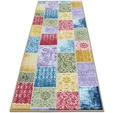 teppichläufer laviano patchwork muster im vintage look