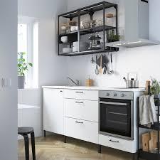 enhet مطبخ فحمي أبيض 203x63 5x222 سم