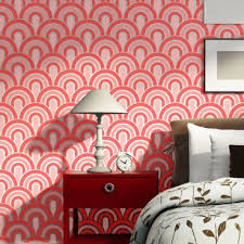 Wall Stencils Scallop Pattern Allover Stencil For Painting Better Than Wallpaper