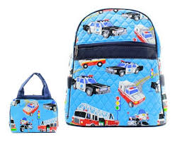 Matching Backpack Lunch Bag Personalized Fire Truck 15
