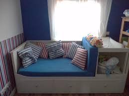 Baby Room Decor Australia Bedroom by Guest Bed Makes Space For Baby Changing Table Ikea Hackers
