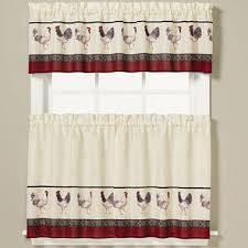 White French Country Kitchen Curtains by French Country Kitchen Curtains