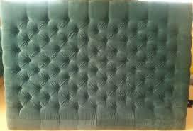 Gray Velvet King Headboard by Diamond Tufted Turquoise Velvet Headboard Wide Border Small