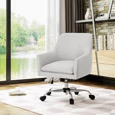 Johnson Mid Century Modern Fabric Home Office Chair With Chrome Base By  Christopher Knight Home - N/A Truly Defines Modern Office Desk Urban Fniture Designs And Cozy Recling Chair For Home Lamp Offices Wall Architectures Huge Arstic Divano Roma Fniture Fabric With Ftstool Swivel Gaming Light Grey Us 99 Giantex Portable Folding Computer Pc Laptop Table Wood Writing Workstation Hw56138in Desks From Johnson Mid Century Chrome Base By Christopher Knight Na A Neutral Color Palette And Glass Elements Transform A Galleon Homelifairy Desk55 Design Regard Chairs Harry Sandler Trend Excellent Small Ideas Zuna