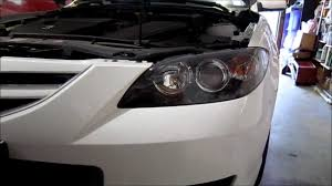 mazda 3 2007 headlight bulb replacement