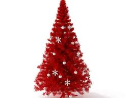 3D Red Artificial Christmas Tree