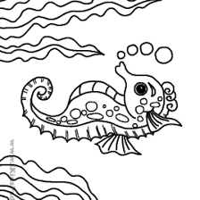 Free Coloring Pages Water Animals
