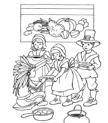 Sharing Is Beautiful Coloring Pages Printable Thanksgiving