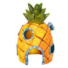 Spongebob Aquarium Decor Set by 3 Patterns Cute Pineapple Aquatic Animals House Home Fish Tank