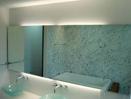 wall mirrors lighted makeup mirror wall mounted chrome image of