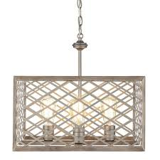 Home Decorators Collection Lighting by Home Decorators Collection 4 Light Gilded Pewter Pendant With