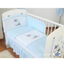 tour de lit bebe garon pas cher tour de lit bébé pas cher bleu pour garçon avec broderie bourriquet