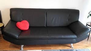 canapé simili cuir noir clasf