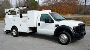 100 Mechanics Truck 2008 FORD F550 4x4 MECHANICS TRUCK SERVICE UTILITY WELDER CRANE