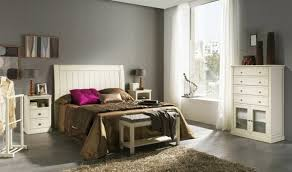 Bedroom Furniture All Natural Colors White Gray Walls Beige Carpet Headboard