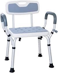 xgyuii bad stuhl dusche badewanne lift stuhl duschhocker badezimmer sitz mit handlauf rückenlehne invaliditätshilfe rutschfeste beinpolster für ältere