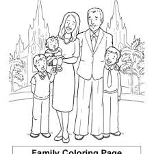 Family Praying Together Coloring Page