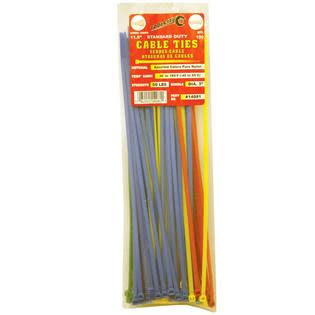 Tool City 11.8 in. L Assorted Cable Tie 100 Pk