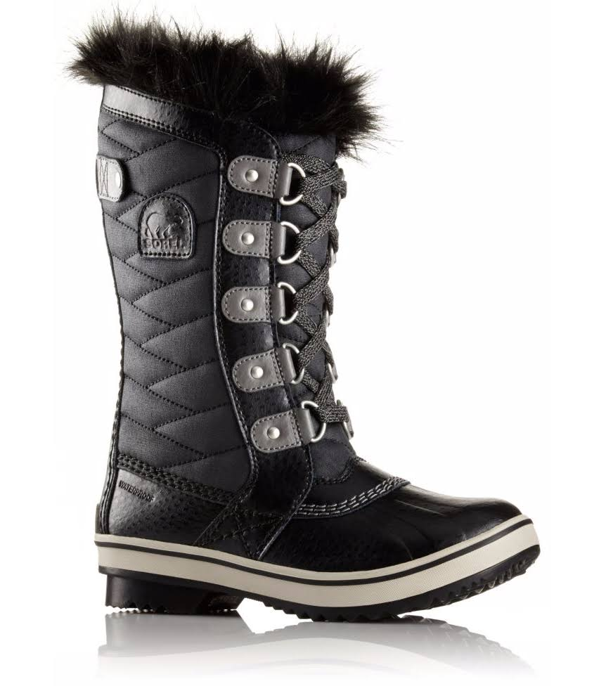 Sorel Girls Tofino II Waterproof Winter Boot - Black, 1 US Big Kid