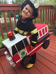 Another Pic Of The Firetruck Costume! | Bombero | Pinterest ...
