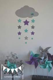 deco chambre bebe fille gris stickers décoration chambre enfant fille bébé garçon nuage et