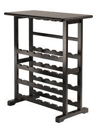 Under Cabinet Stemware Rack Walmart by Amazon Com Winsome Vinny Wine Rack 24 Bottle With Glass Hanger