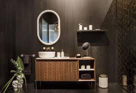 moderne badezimmer diese farben und materialien liegen im