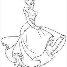 Cinderella And The Prince Coloring Pages