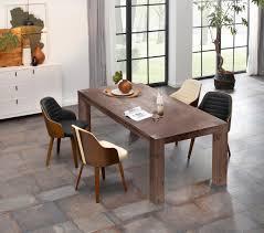 home affaire esstisch maggie aus massivem akazienholz in drei verschiedene tischbreiten und zwei unterschiedlichen beinstärken