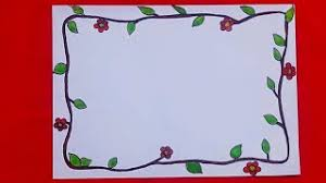 Flower Front Page Design For School Project File Handmade Paper Border Designs Drawing